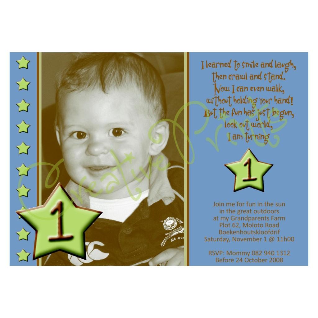 1st Birthday Star Invite