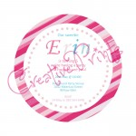 Pink Candy Stripe Invite