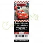 Disney Cars Party Invite