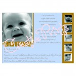 Boys Blue and Brown Multi Picture Baptism Invite