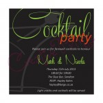 Cocktail Party Black and Green Invite