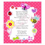 Cute Bugs Baby Shower Invite