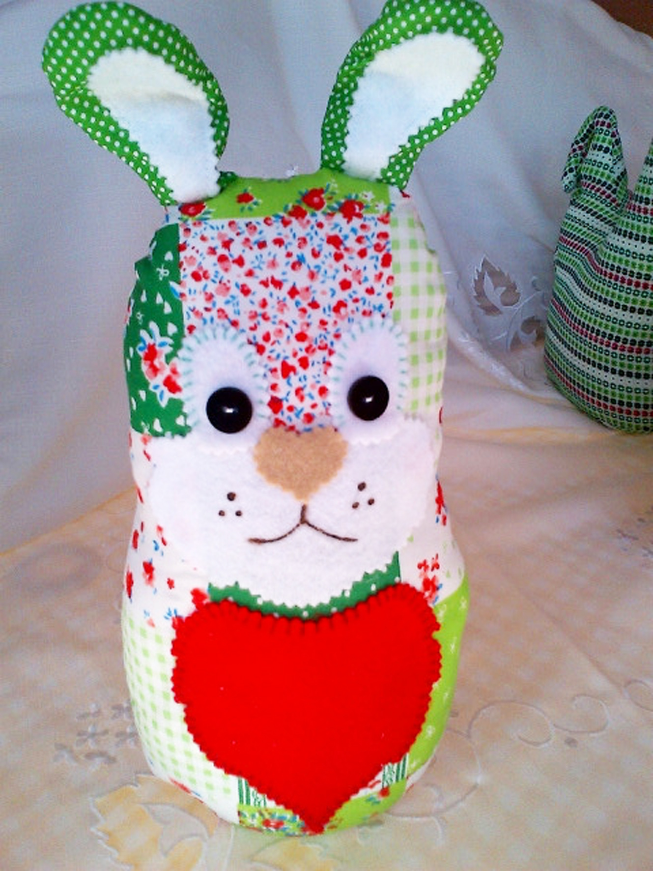 Green Patchwork Bunny