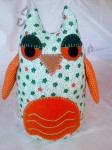 Orange and Green Owl