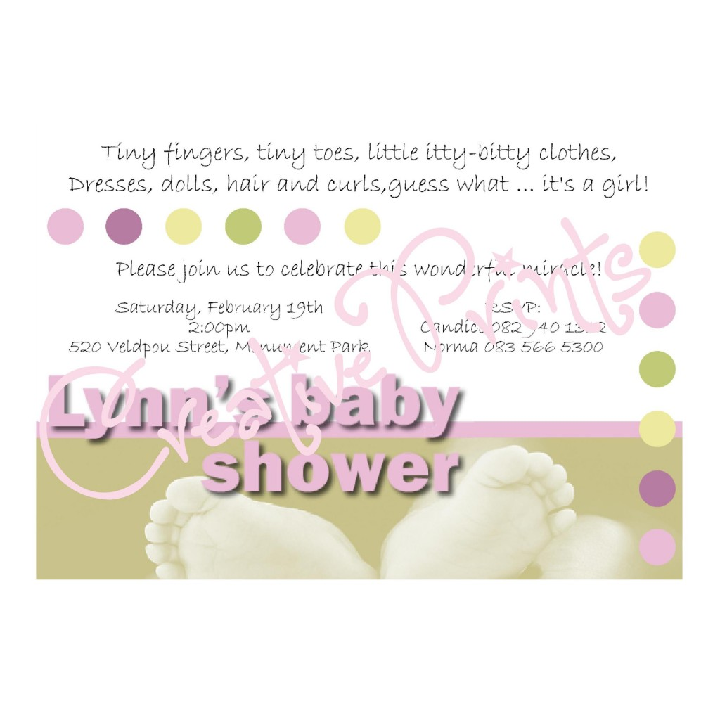 Tiny Toes Baby Shower
