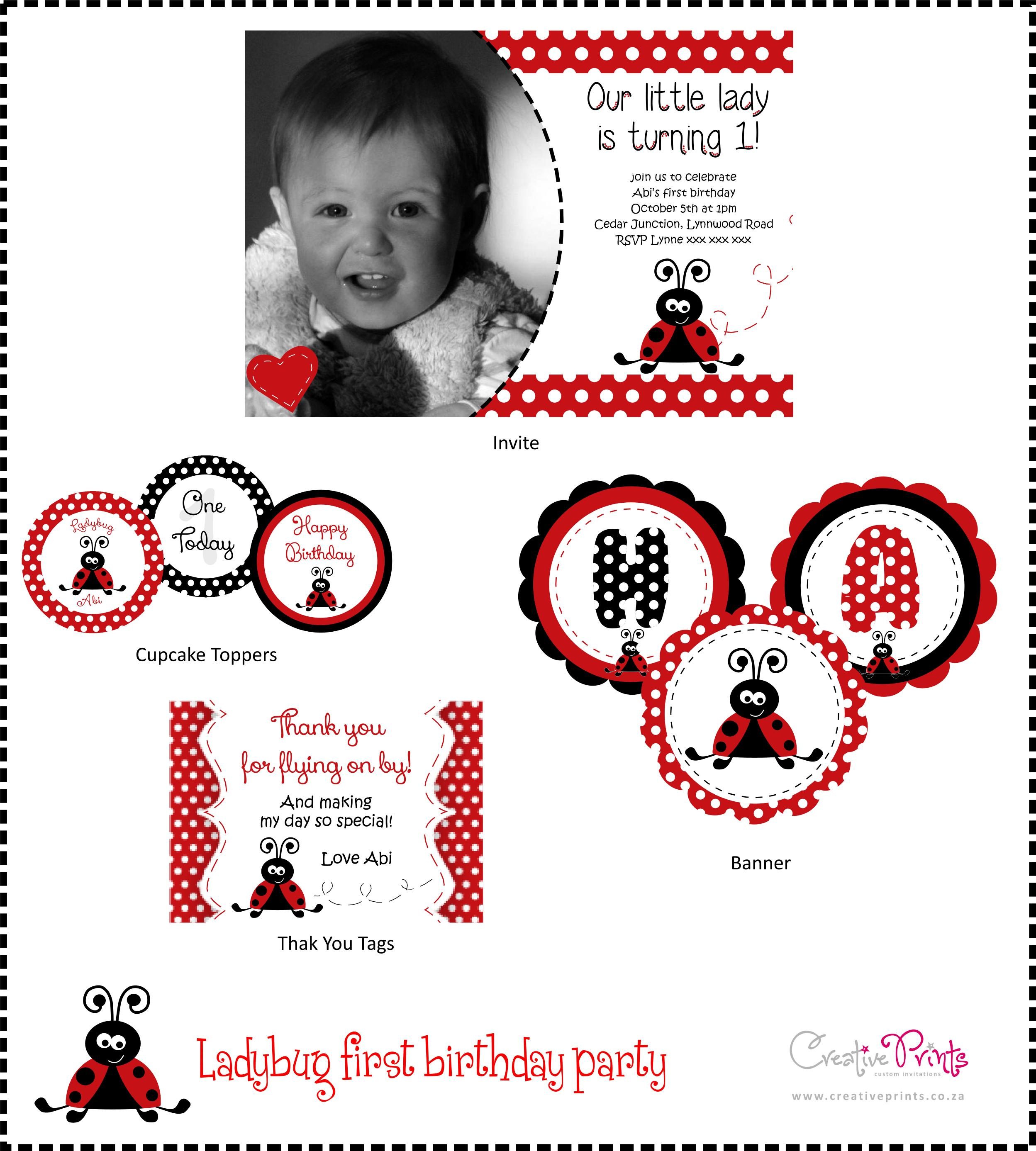 ladybug first bday party
