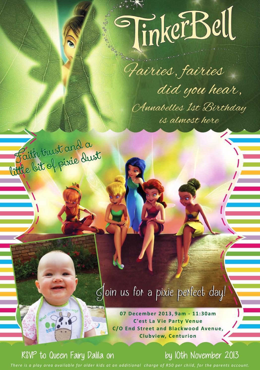 Annabelles Tinkerbell Invite